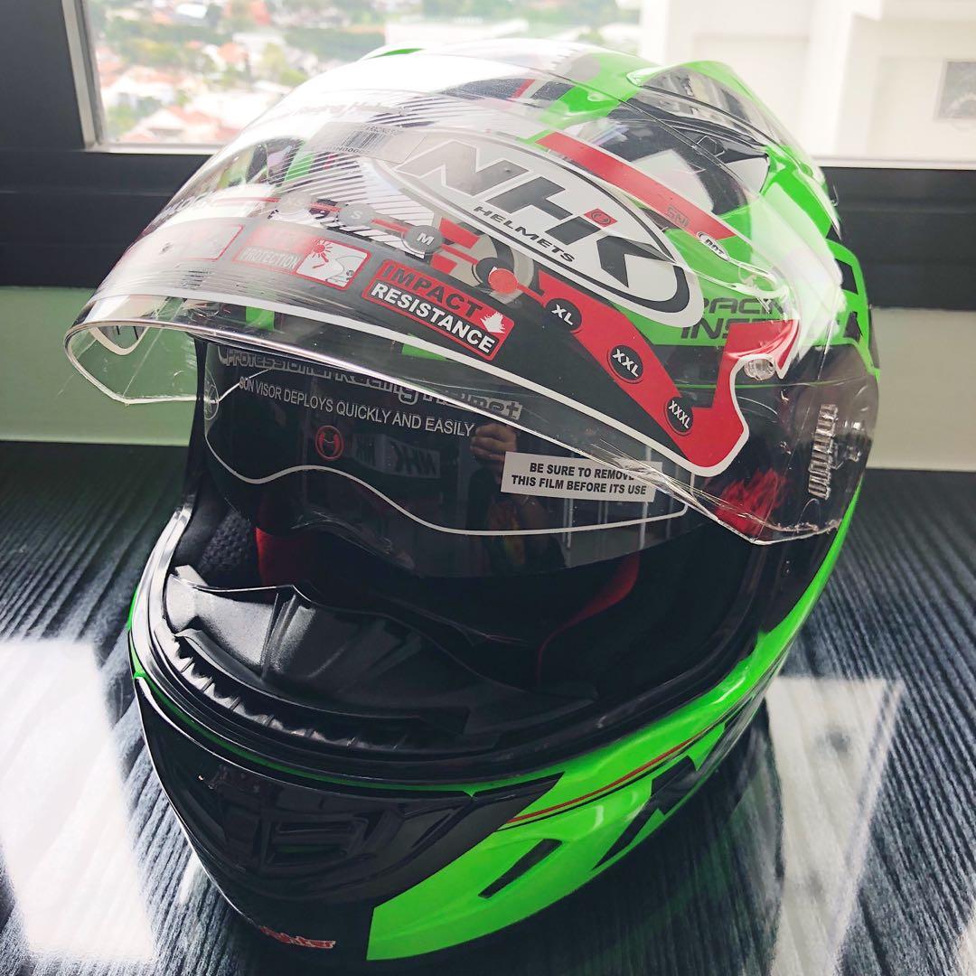 b4d7a83a NHK GP1000 Racing Full Face Helmet Green Fluorescent, Motorbikes ...