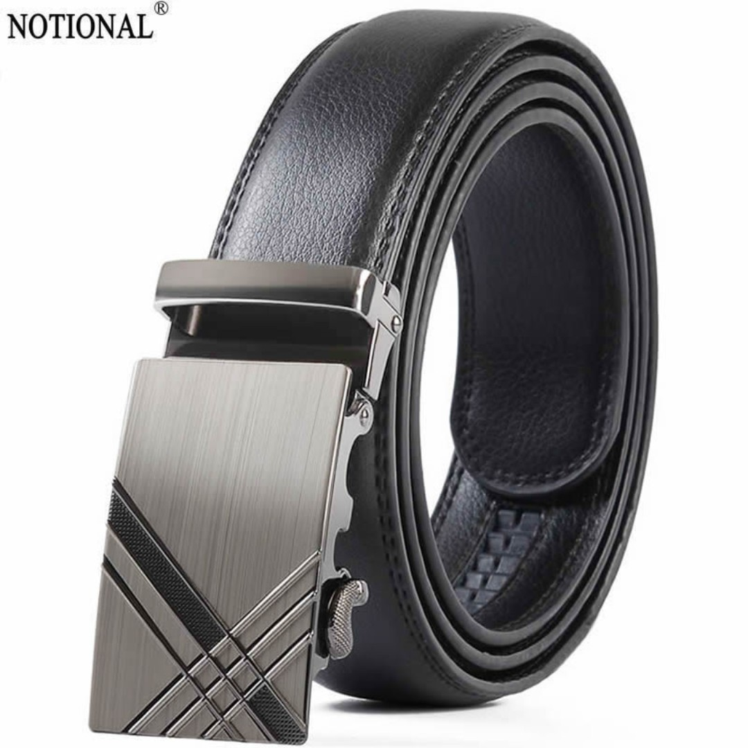 913f0e2615b NOTIONAL men Leather belt male genuine leather belt Automatic Buckle ...