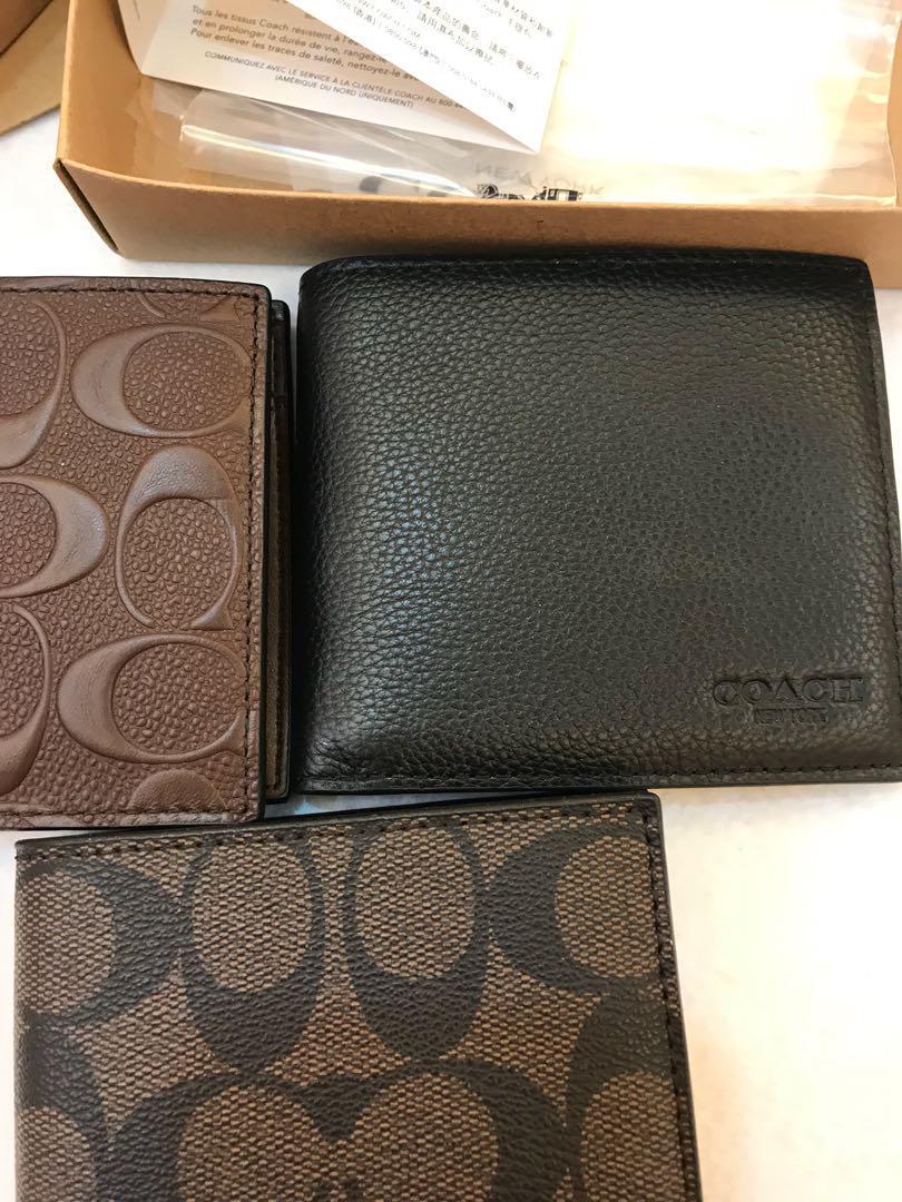 Original coach ready Stock coin pouch version 75006 75003 75363