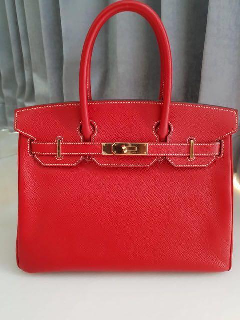 947b367d9d Pre💖 Hermes Birkin 30 Rouge Casaque Candy Epsom GHW P