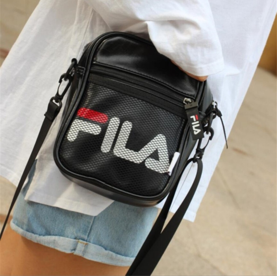 f3a56640a2 [Pre-order] FILA Leather small crossbody bag, Men's Fashion, Bags &  Wallets, Sling Bags on Carousell