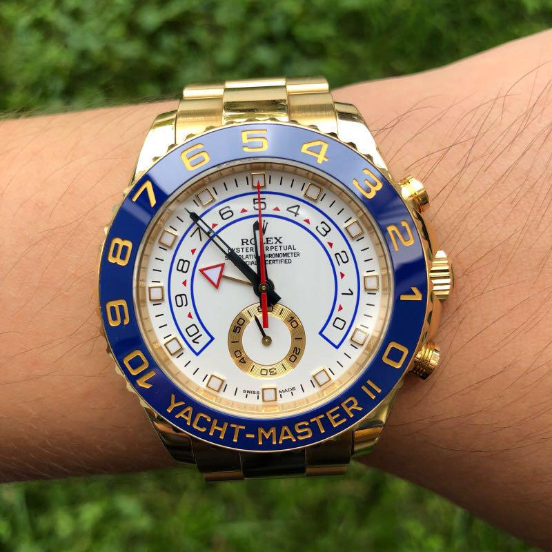 ROLEX YACHT MASTER 2 , Yellow Gold, Luxury, Watches on Carousell