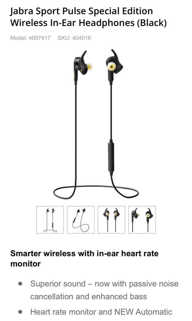 RRP $249 Jabra Sport Pulse Special Edition Wireless