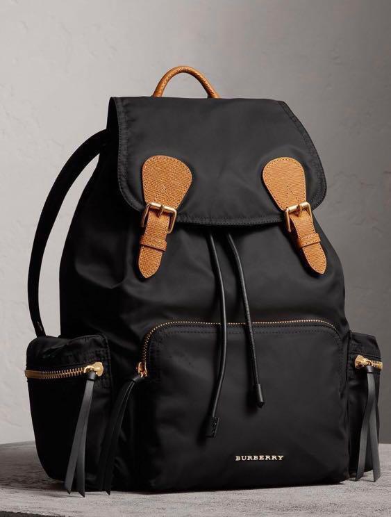 [sale] Burberry Large Black Backpack Rucksack