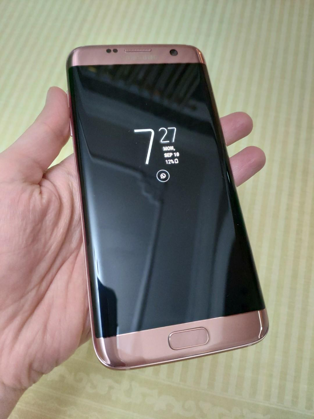 on sale 9d640 70892 Samsung Galaxy S7 Edge Pink / Rose Gold Second Like New, Mobile ...