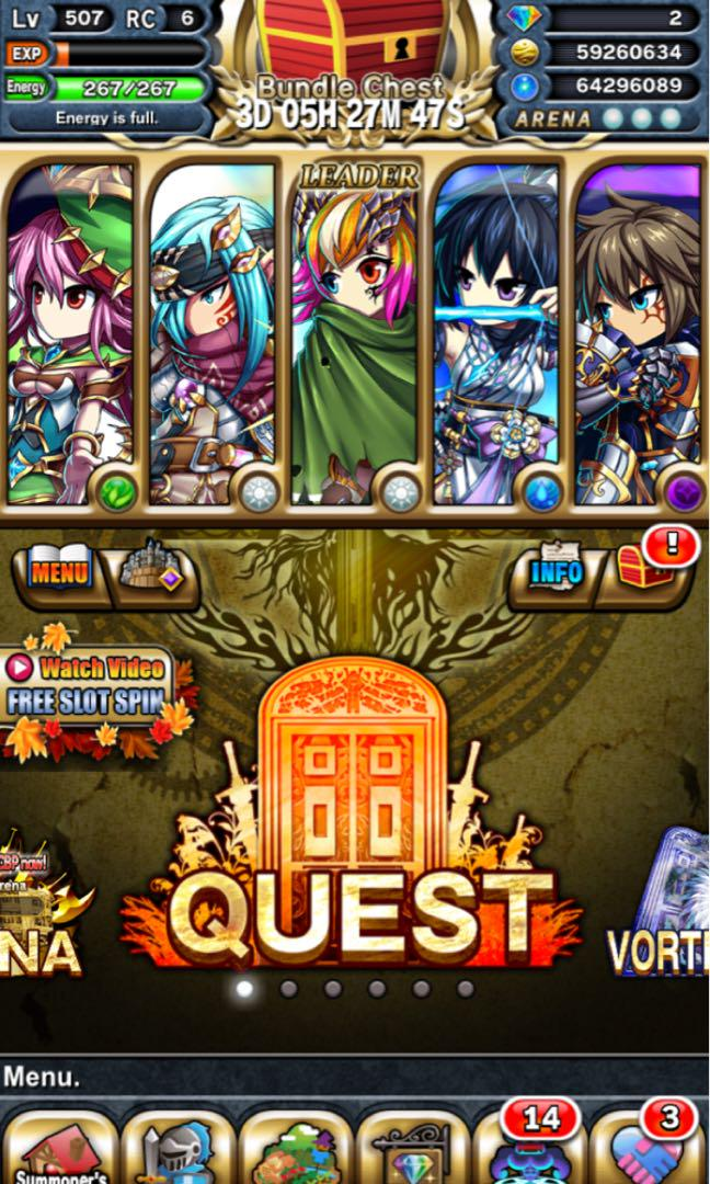 Selling Pro brave frontier account, Toys & Games, Video