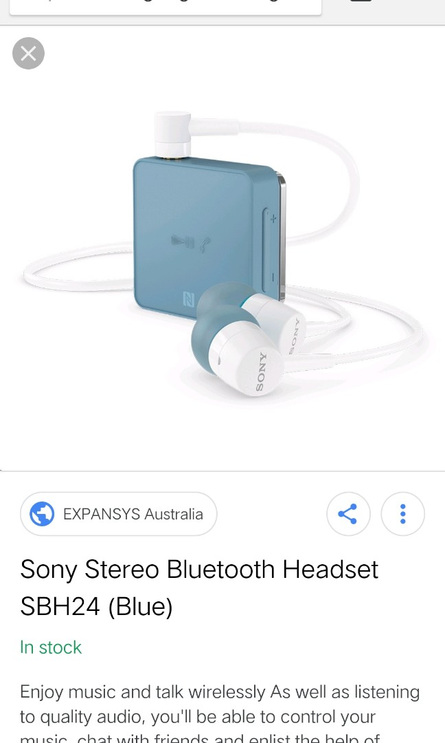 Marked Down Price Sony Sbh 24 Bluetooth Headset Clearance Mobile Phones Tablets Others On Carousell