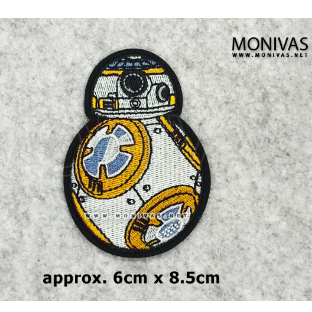 Star Wars BB-8 Droid Iron On Patch DIY Repair Applique Movie Motif Badge  Decoration
