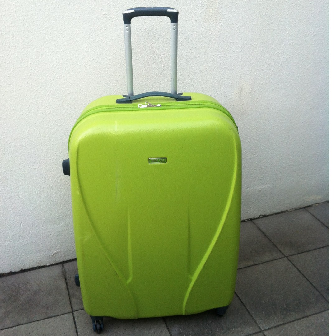 eaa070e914 Swiss Polo lime green 30 inches expandable luggage with TSA lock ...