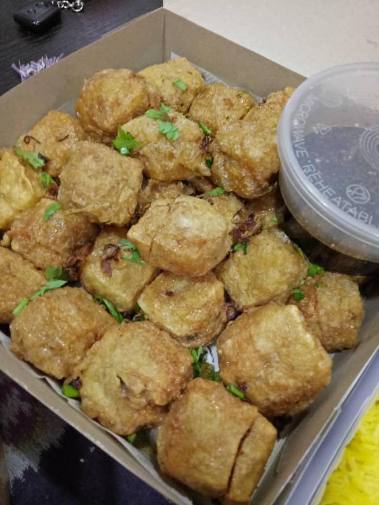Tahu Bergedil Daging/Ayam & Sos Kicap