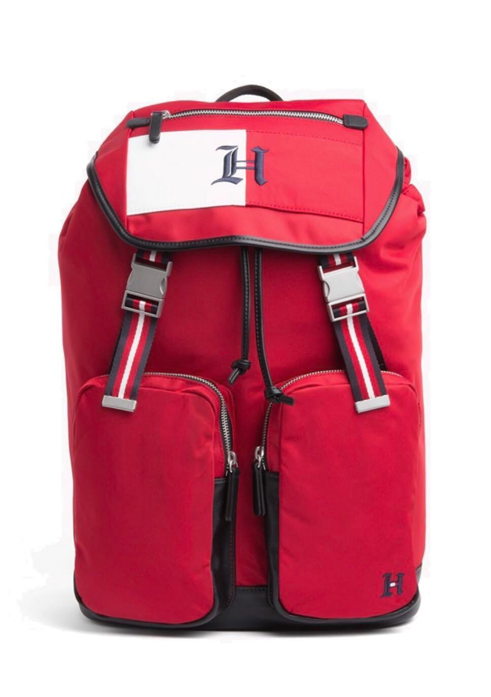 58dd81d155da Tommy X Lewis Collab Backpack Red/Black, Men's Fashion, Bags ...