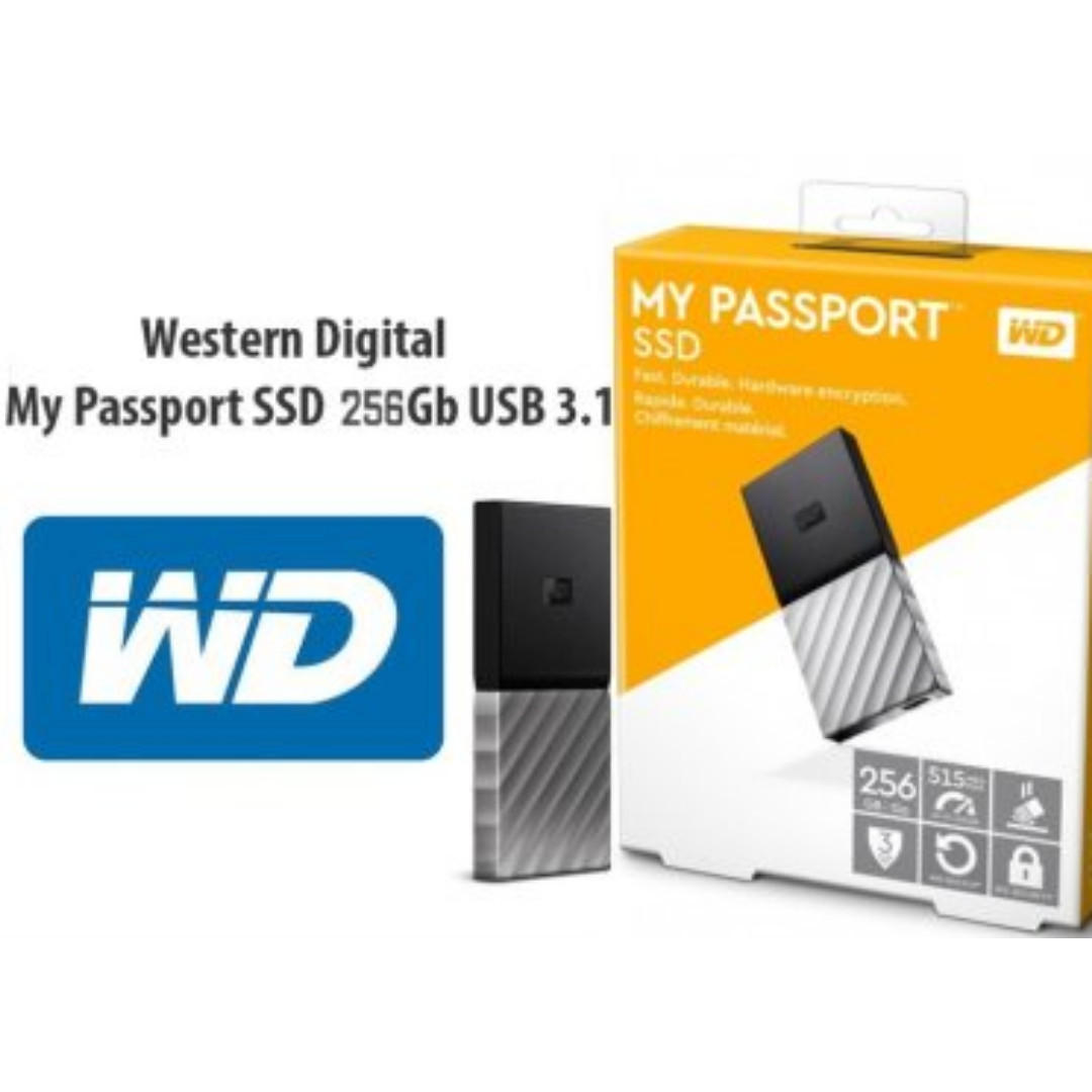 WD My Passport 256Gb Portable SSD Hardddisk - 3 years