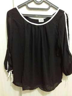 SALE !!! Black chiffon blouse