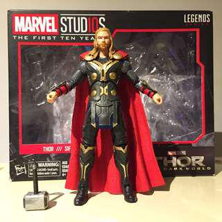 "6"" Marvel Legends 10th Anniversary Thor with box"