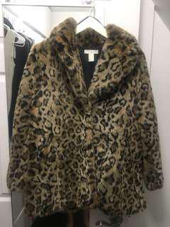 Cheetah Print Fur Coat