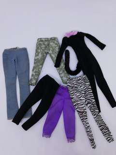 Barbie outfits set