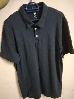 H&m polo size m, blue black stripe colour