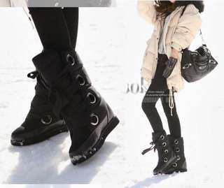 🚚 韓妞最愛綁帶雪靴