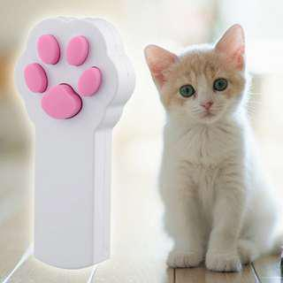 Pet Cat Interactive Automatic Red Laser Pointer - White