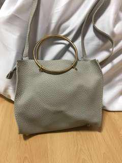 Ulzzang Faux leather Ring handbag / sling bag