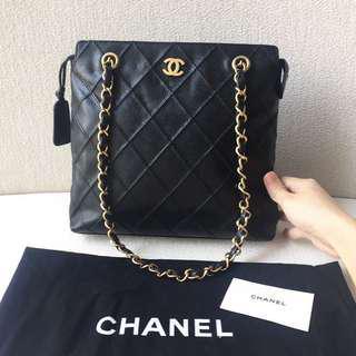 AUTHENTIC CHANEL Caviar Shoulder Tote Bag
