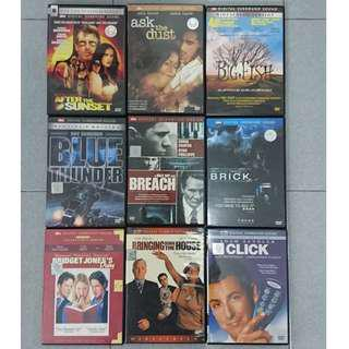 DVD: Harrison Ford/ Bruce Willis/ Nicolas Cage/ John Travolta/ Meryl Streep/ Anthony Hopkins/ assorted.