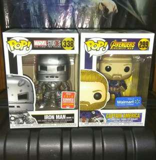 (ON HAND) Iron Man Mark 1 SCE 2018 Avengers Marvel Funko Pop Bundle