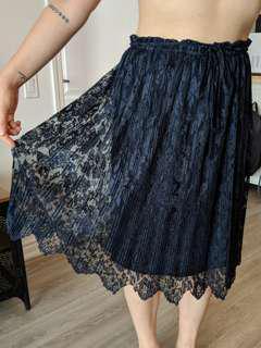 Navy blue long skirt (Zara)