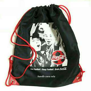 Coca Cola Drawstring Bag With Supporters Kit