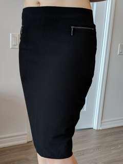 Black form fitting dress skirt (M&S)
