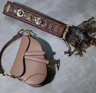 Dior saddle bag with warranty