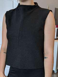 Black high neck shirt (Zara)