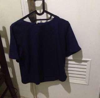Local Brand Indonesia Blue Blouse