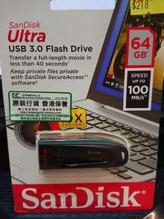 特快 USB 手指 - SanDisk Ultra CZ48 64GB USB 3.0