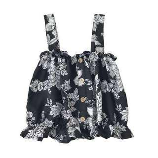 Floral Abstract Button Down Top