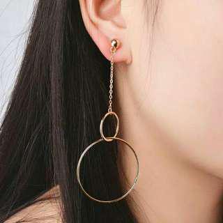Anting HOOP geometri hoops earrings korean earrings anting korea anting bulat besar untuk pesta