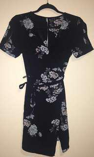 Floral Wrap Dress from Dynamite (Resale)