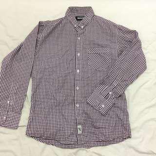 GUMMO SHIRT PLAID PURPLE