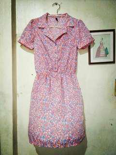 Bayo collared pink dress