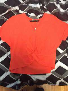 BNWT Zara top with knot