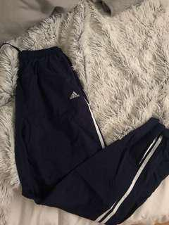 Navy blue adidas windbreaker pants
