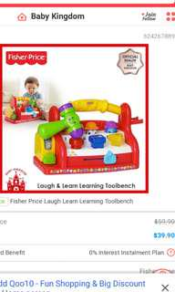 Fisher Price laugh and learn toolbench