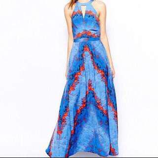 Warehouse beautiful lava print maxi dress
