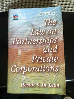 The Laws on Partnerships and Corporations