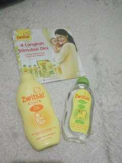 Paket baby oil& baby lotion zwitsal
