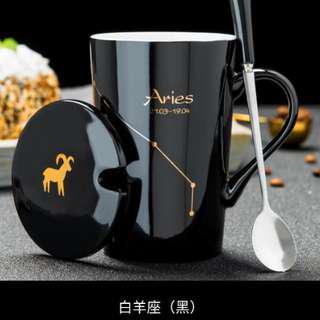 十二星座 陶瓷杯 (黑/白) 可放微波爐            jjjj
