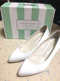 Shoes de blanc 韓國 婚鞋 高跟鞋 結婚 wedding 245
