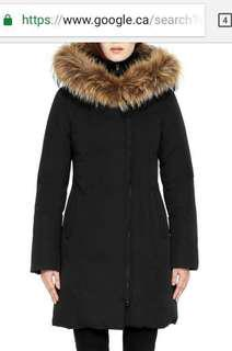 SOIA&KYO BLACK DOWN WINTER COAT