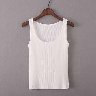 Cotton Knitted Singlet