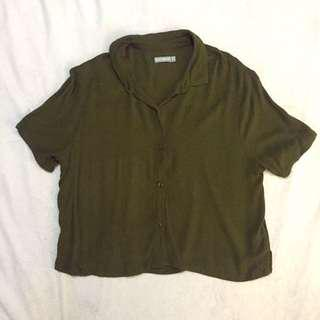 6ixty8ight Army Green Crop Top